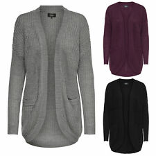 Donna Oversize Giacca Maglione Onlemma New L/S Cardigan Knt 3 Colori