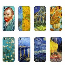 Cover Apple iPhone X Vincent Van Gogh Autoritratto Campo di grano con volo di co