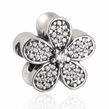 Originale Charm Argento Sterling S925 Charms Clear Zircon Daisy Charm beads