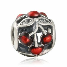 Originale Charm Argento Sterling S925 beads Sweet Cherries charms Fit Bracelet