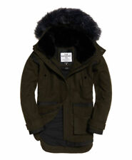 New Womens Superdry Fjord Ovoid Parka Coat Khaki *NEW WITH TAGS*
