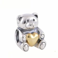 Originale Charm Argento Sterling S925 Charm Beads Bear Hug Hearts Bead Jewelry