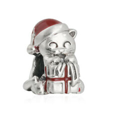 Originale Charm Argento S925 Charms Bead Red Enamel Christmas gift Fine Silver
