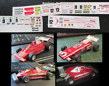 Scalextric Decals / Transfers for Ferrari 312B2, 312T, 312T3 - 6 Variations