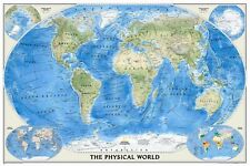 National Geographic Maps The Physical World Wall Map