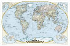 National Geographic Maps NGS 125th Anniversary World Map