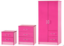Marina Pink Bedroom Furniture Units & Sets Bedside cabinet,Chest & wardrobe