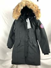 NEW CANADA GOOSE KENSINGTON PARKA BLACK WOMENS XS-XL DOWN AUTHENTIC HOLOGRAM