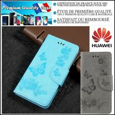 Etui Coque Housse Cuir PU Leather Wallet Case Cover Huawei P10 Lite  P20 Lite