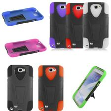 For Samsung Galaxy Note 2 Case - Kickstand Dual Layer Lightweight Hybrid Cover