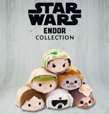 Disney Star Wars Tsum Tsum Mini Plush Endor Han Leia Luke Logray Chirpa Scout
