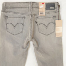 NEW Ladies Womens Levis DEMI CURVE SKINNY Stretch Grey Jeans BNWT