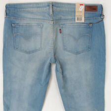 NEW Ladies Womens Levis SLIGHT CURVE SKINNY Stretch Blue Jeans BNWT