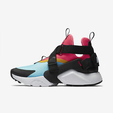 NIKE AIR HUARACHE CITY  : AQUA/BLACK/PINK/WHITE - AH6787 400 - UK 6, 7 , 8