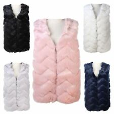 New Ladies Zigzag Pattern High Quality Faux Fur Sleeveless Gilet