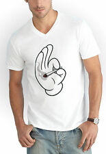 Dope Hands Blunt T Shirt collo V Weed High Mouse Smoke Joint Bong Mickey