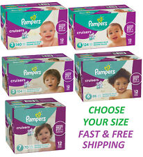 Pampers Cruisers Best Fitting Diapers CHOOSE YOUR SIZE: 3 4 5 6 7 *FREE SHIPPING