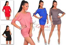 Women's Open Sleeve Stretchy Jersey Tunic,Mini Dress Bodycon Cocktail,Party ღ 22