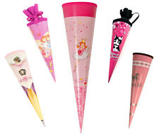Sweet Cone School Cone Goldbuch 70 cm Large with Felt Cap Everything in Pink