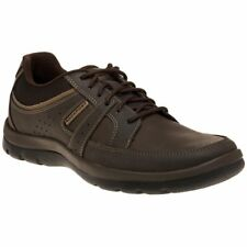 New Mens Rockport Brown Gyk Blucher Leather Shoes Lace Up