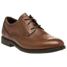 New Mens Rockport Tan Madson Wingtip Leather Shoes Brogue Lace Up