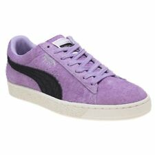 New Mens Puma Pink Purple Suede Trainers Retro Lace Up