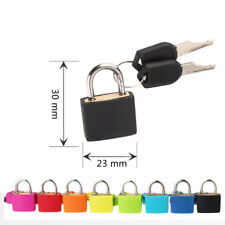 Cute Small Mini Strong Steel Padlock Travel Suitcase Diary Lock With 2 Keys Nice