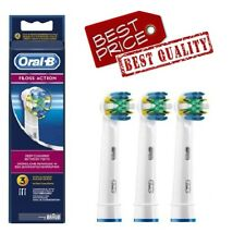 New Braun Oral-B Floss Action 1-3 Toothbrush Heads Same Day Dispatch
