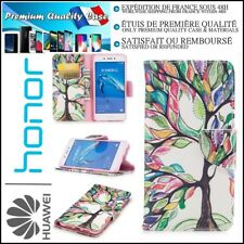 Etui Coque Housse Cuir PU Leather Tree Stand Wallet Case Cover Huawei Honor 6C