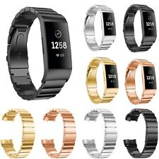 Metal Watch Wristband Strap Bracelet for Fitbit Charge 3 Smart Fitness Tracker