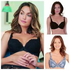 Charnos Lingeire Bailey Padded Plunge Bra 1551020 Black