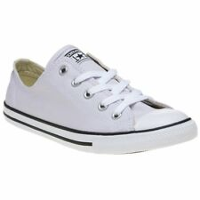 f6f470a3a39d New Womens Converse Lilac Purple All Star Dainty Ox Canvas Trainers Lace Up