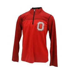 Ohio State Buckeyes NCAA Kids Youth Size Athletic Light Quarter Zip Pullover New