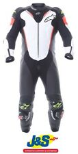 Alpinestars Atem V3 1PC Leather Motorcycle Suit Race White Red Yellow Fluo J&S