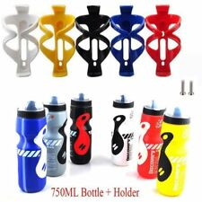 750ml Water Drink Bottle Cycling Bicycle Bike Plastic Water Bottle Cage Holder