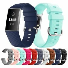 Silicone Replacement Watch Band Wrist Strap For Fitbit Charge 3 Smart Watch