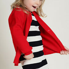 Kids Sweater Coat Tops Cardigan Knitwear Knitted Long Sleeve Solid Color O-Neck
