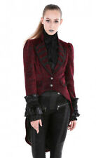 Coat jacket velvet burgundy red pattern black elegant gothic Pentagramme