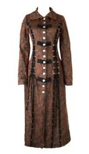 Long coat brown with lacing steampunk Punk Rave y-548 Punk Rave