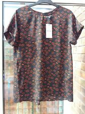 BNWT Whistles Lips Print Top Black/Red S rrp£99
