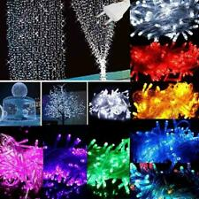 10M LED Mains Plug In String Fairy Lights 8 Function Garden Xmas Tree Outdoor UK