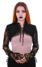 Bolero black lace with sleeves transparent pentagramme pentagramme