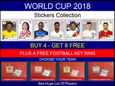 Russia World Cup 2018 - Panini Stickers - Players - Free Football Key Ring Offer