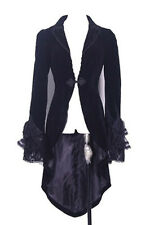 long coat velvet black and lace, elegant aristocrat Pentagramme
