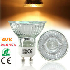 1/2/4/6/8x GU10 20W/35W/50W Halogen Bulb Warm White Light Long Life 220-240V