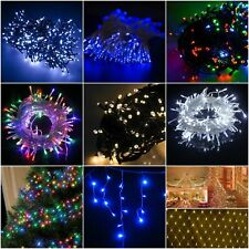 100/200/300/400 LED Christmas Fairy String Lights Indoor-Outdoor Icicle Xmas Net