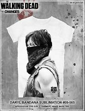 The Walking Dead Daryl Dixon Bandana Corazón Alas AMC Júnior Camisa Sublimación