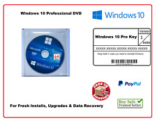 Microsoft WINDOWS 10 PROFESSIONAL 32/64 bit FULL DVD DISC WITH LICENSE KEY PRO