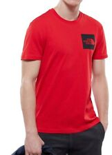 Camiseta The North Face fin tee camiseta de manga corta algodón logotipo rojo