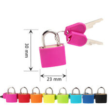 Cute Small Mini Strong Steel Padlock Travel Suitcase Diary Lock With 2 Keys
